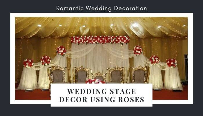 Add Roses in Wedding Stage Décor