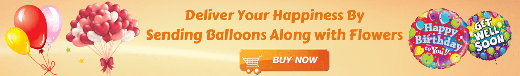 Send balloons with Flowers
